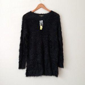 NWT Gianni Bini Fuzzy Sequin Sweater Size XS